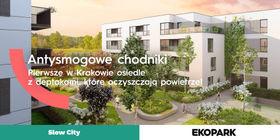 Pierwsze w Krakowie osiedle z chodnikami antysmogowymi