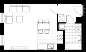 Rzut pomieszczeń 39 Aleja Pokoju - ul. Na Łąkach 9