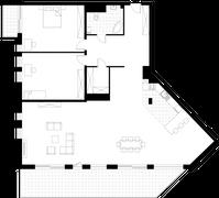 Rzut pomieszczeń KVI-B Bulwar Drobnera