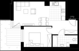 Rzut pomieszczeń B3-25 Nowa 5 Dzielnica