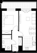 Rzut pomieszczeń 3B/4 Aura Home