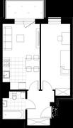 Rzut pomieszczeń 8 Aleja Pokoju - ul. Na Łąkach 9