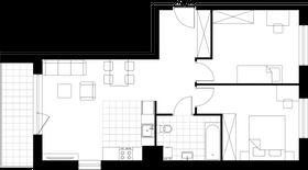 Rzut pomieszczeń A1-1-1 Lokum Vista