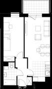 Rzut pomieszczeń 41 Aleja Pokoju - ul. Na Łąkach 9