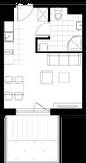 Rzut pomieszczeń U09 Metro Park – apartamenty inwestycyjne
