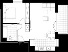 Rzut pomieszczeń b3.2.1 ATAL Bosmańska