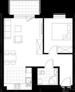 Rzut pomieszczeń C008 Miasto Marina – apartamenty inwestycyjne
