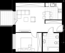 Rzut pomieszczeń D8.103.M02 Mieszkaj w Mieście Wizjonerów