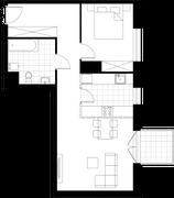 Rzut pomieszczeń G2.102.M02 Mieszkaj w Mieście Kompozytorów