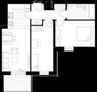 Rzut pomieszczeń 25 Aleja Pokoju - ul. Na Łąkach 9