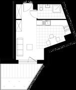Rzut pomieszczeń U08 Metro Park – apartamenty inwestycyjne