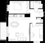 Rzut pomieszczeń A202 Esteio