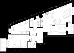 Rzut pomieszczeń M802 Apartamenty Okopowa 59A