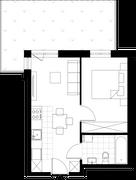 Rzut pomieszczeń A_0_7A Apartamenty Gusta – Naturalnie
