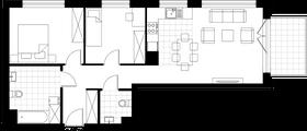 Rzut pomieszczeń D1.103.M03 Mieszkaj w Mieście Wizjonerów