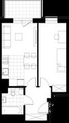 Rzut pomieszczeń 32 Aleja Pokoju - ul. Na Łąkach 9