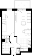 Rzut pomieszczeń 5 Aleja Pokoju - ul. Na Łąkach 9