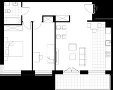 Rzut pomieszczeń IE2 Osiedle Dobra Forma