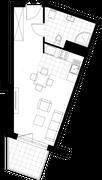 Rzut pomieszczeń H3.104.M03 Mieszkaj w Mieście Aktorów