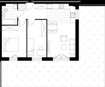 Rzut pomieszczeń L.I.1 Osiedle Śliwowa