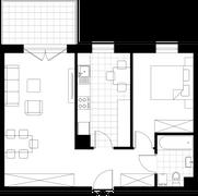 Rzut pomieszczeń B4-07 Zielone Bemowo