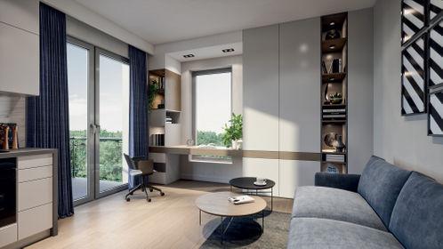 Wizualizacja Modern Space – apartamenty inwestycyjne