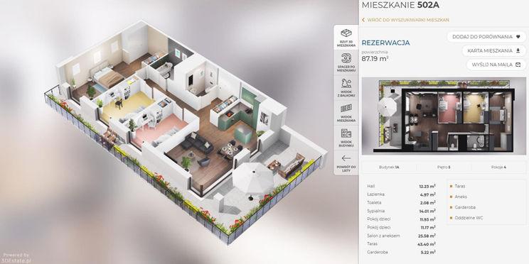 Trójwymiarowy obraz mieszkania